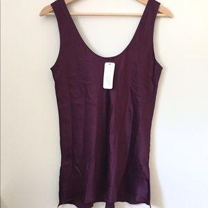 Christine Lingerie Purple 100% Silk Cami S